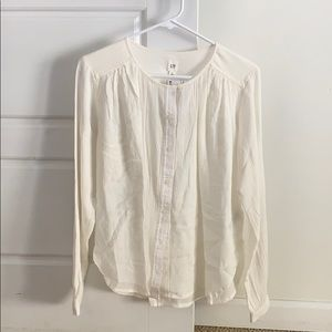 GAP Long sleeve crinkle shirt